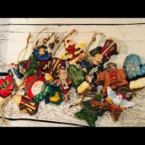 Christmas ornaments 17pc